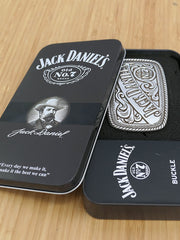 Jack Daniel's 5007JD Old No.7 Authentic Western Belt Buckle in a case