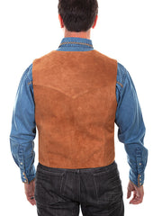 Scully 507-212 Mens Western Lambskin Snap Front Vest Rust