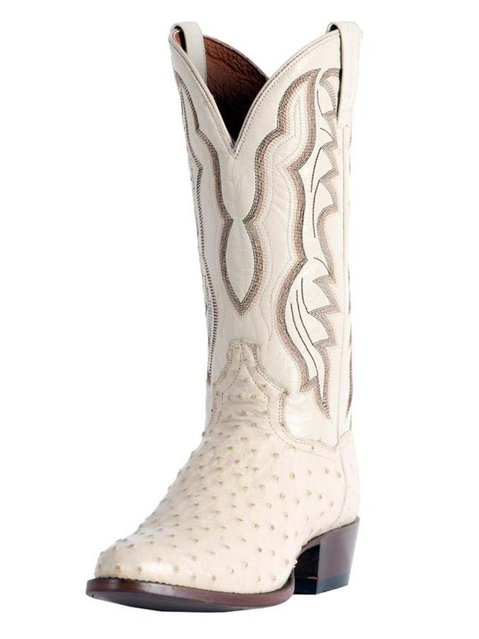 Dan Post DP3015 Mens Pershing Full Quill Ostrich Boot White