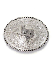 Montana Silversmiths 6189SV-610TX Texas State Western Belt Buckle Antiqued Silver Front