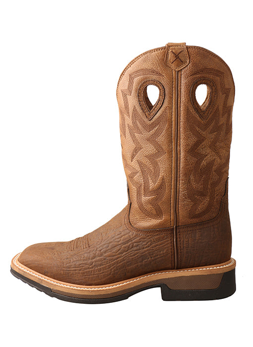 Mens Twisted X Lite Cowboy Western Work Boots - Wide Square Toe  – MLCCWW05 -8