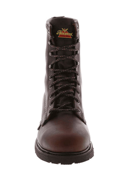 "Thorogood 804-3233 Mens 8"" Oil Rigger Steel Toe Work Boot Black Walnut American Made"