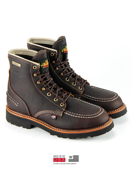 Thorogood 814-4140 Mens Flyway USA Waterproof 6″ Work Boot Briar Pitstop
