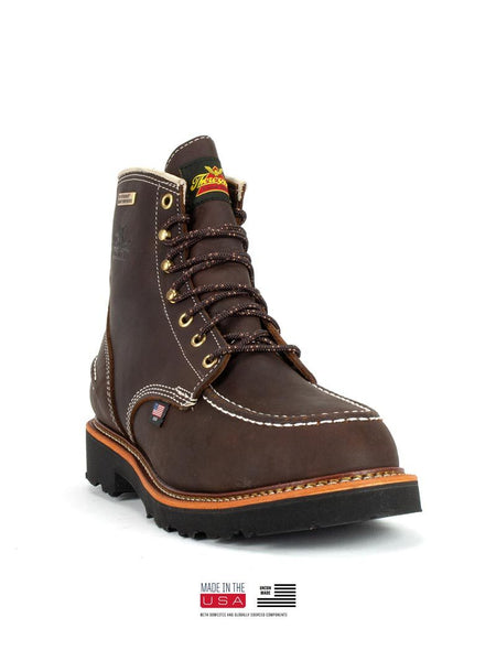 Thorogood 814-4140 Mens Flyway USA Waterproof 6″ Work Boot Briar Pitstop Front