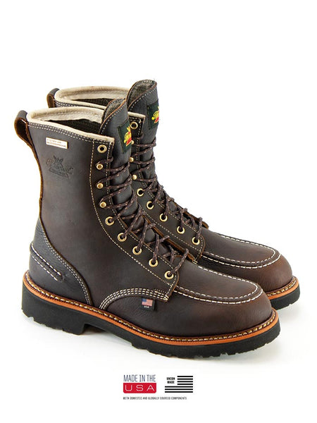 Thorogood 814-4141 Mens Flyway USA Waterproof 8″ Work Boot Briar Pitstop Pair made in USA
