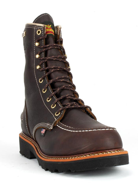 Thorogood 814-4141 Mens Flyway USA Waterproof 8″ Work Boot Briar Pitstop Front
