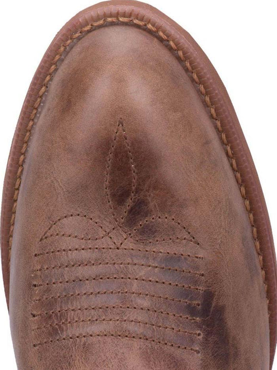 Toe of Dingo Mens Brown Leather R Toe Western Boots DI5771