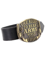 Montana Silversmiths A603C Heritage The Right to Bear Arms Attitude Buckle