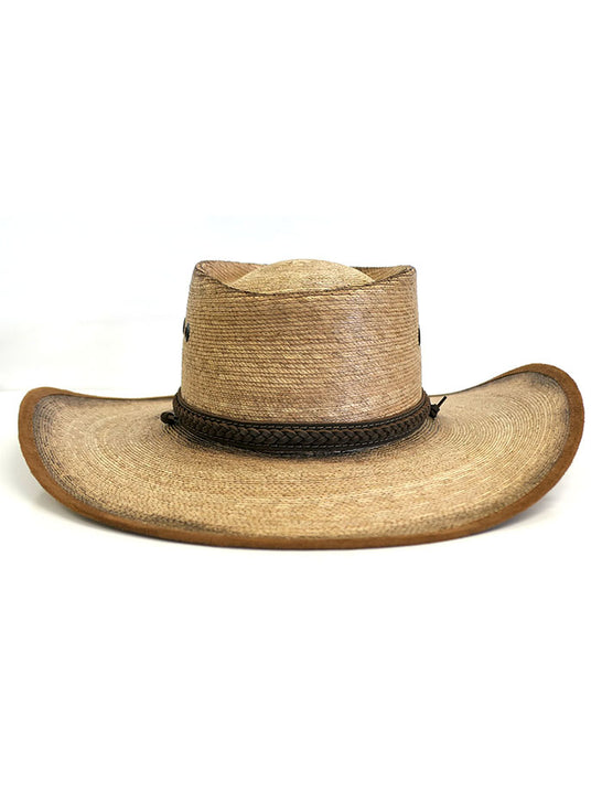 Alamo Hats D53102 Gambler Feet Alamo Palm Straw Hat Front View