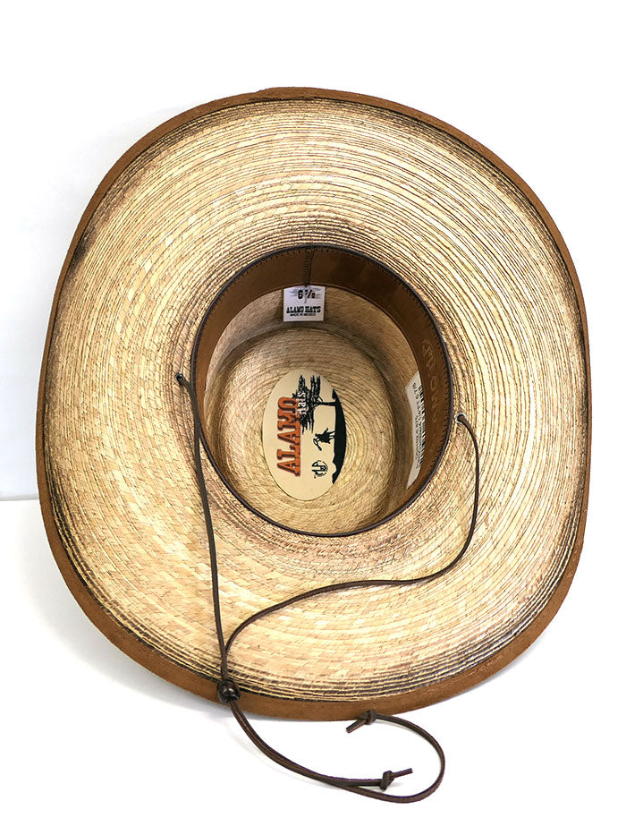 Alamo Hats D53102 Gambler Feet Alamo Palm Straw Hat Side Front View