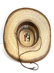 Alamo Hats D53102 Gambler Feet Alamo Palm Straw Hat Inside View