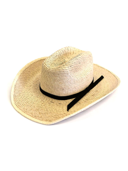 Alamo Hats D53108 Infant Palm Straw Cowboy Hat Natural side front