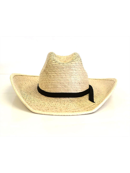 Alamo Hats D53108 Infant Palm Straw Cowboy Hat Natural front side