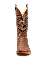 Front of Anderson Bean Mens Stitched Square Toe Western Boot 0107A-9216L Brown - J.C. Western® Wear