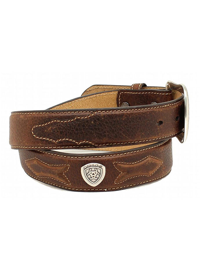 Men's Ariat Leather Concho Arrow Brown Rowdy Western Belt A10214282 Ariat - J.C. Western® Wear