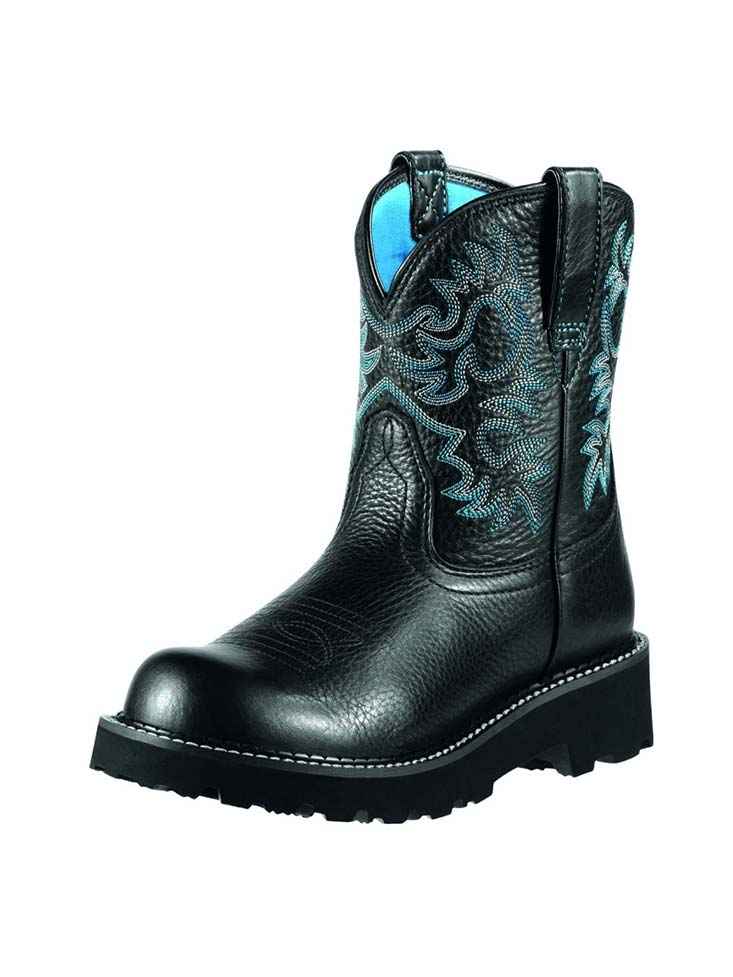 Ariat® Womens Fatbaby Black Deertan Boot 10000833