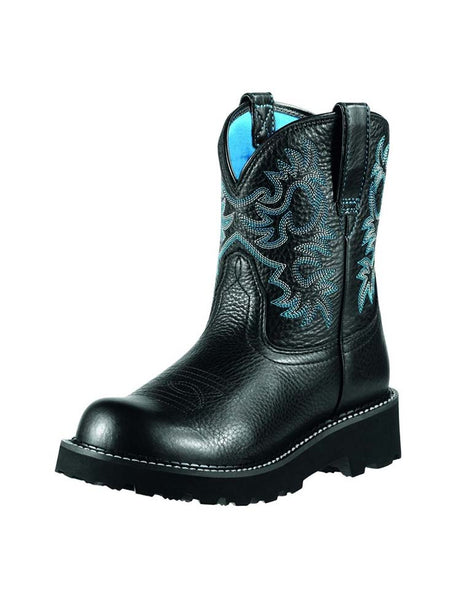 Ariat 10000833 Womens Fatbaby Boot Black Deertan
