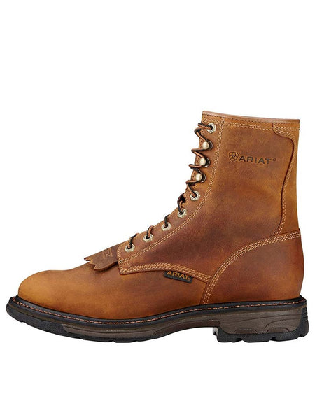"Ariat 10016266 Mens Workhog 8"" Lace-Up Work Boot Aged Bark"