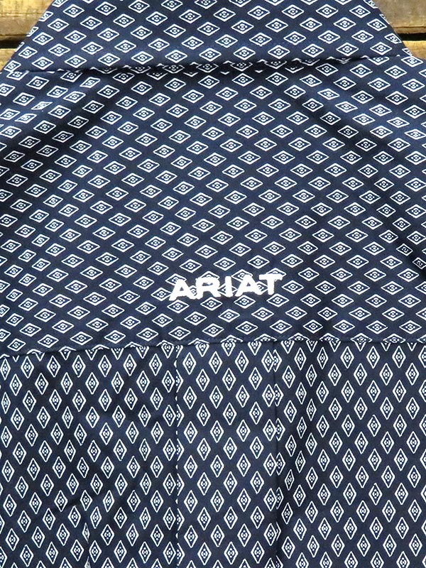 Ariat 10028031 Mens WF Walbeck Classic Long Sleeve Shirt Peacoat