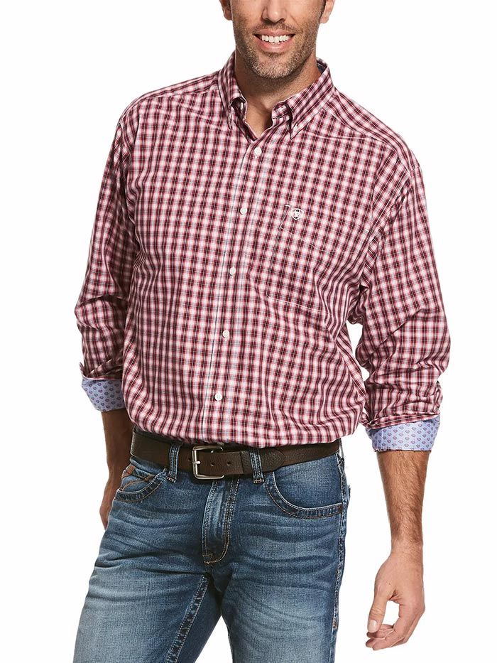 Ariat Mens Wrinkle Free Wahlman Classic Long Sleeve Shirt 10028298 at JC Western Wear