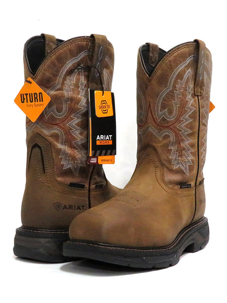 Ariat 10031483 Mens Workhog Waterproof H2O XT Carbon Toe Boots Brown