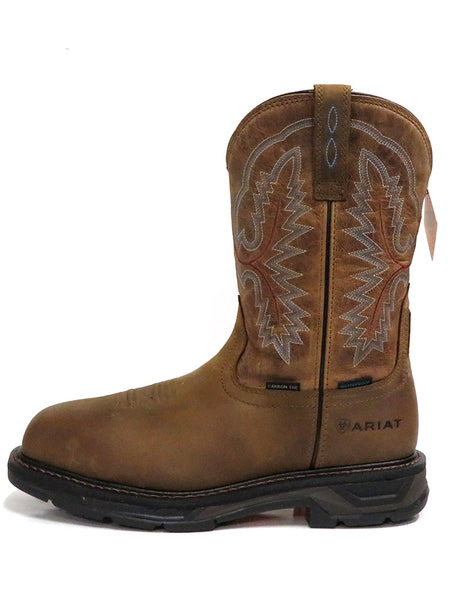 Ariat 10031483 Mens Workhog Waterproof H2O XT Carbon Toe Boots Brown Side