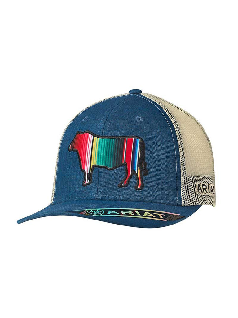 Ariat Mens Blue Front Serape Bull Baseball Cap 1517327. NEXT. PREV. Zoom 8628c5c597d3
