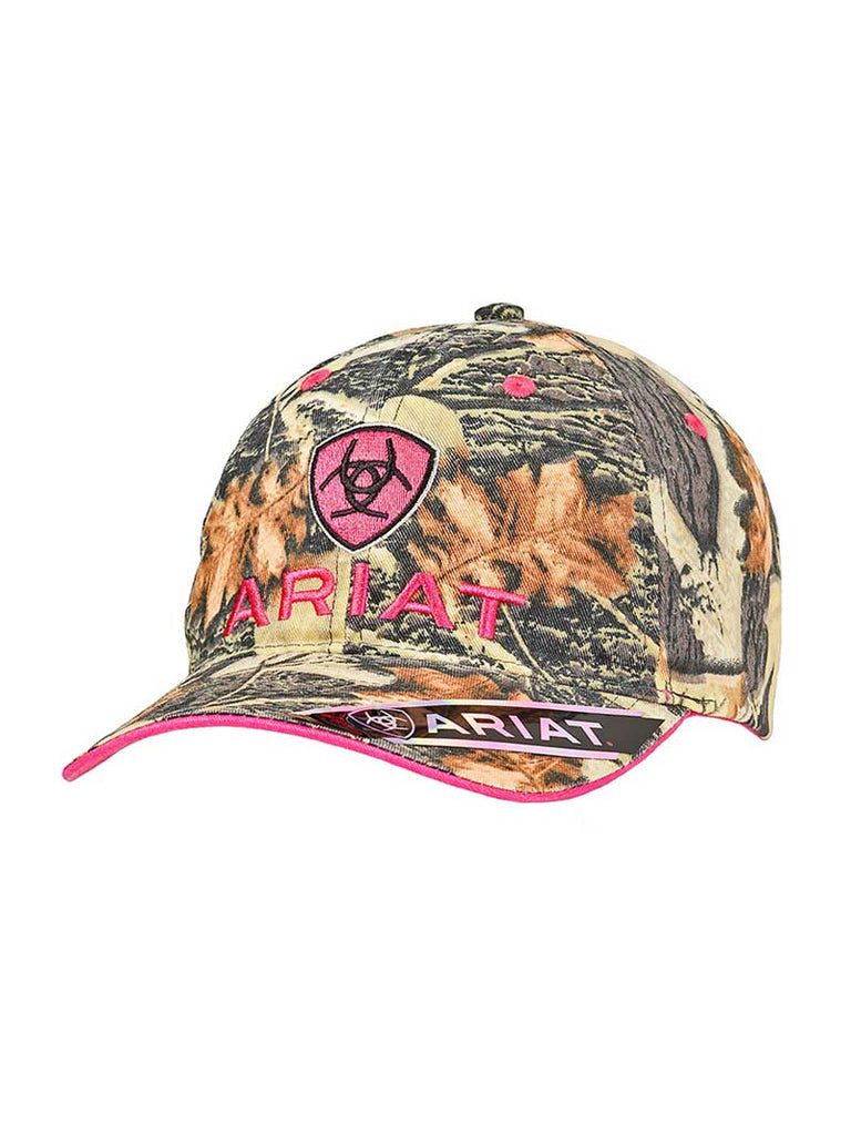 Ariat Ladies Mossy Oak Pink Shield Logo Baseball Cap 15440156 – J.C. ... 06c170a2113