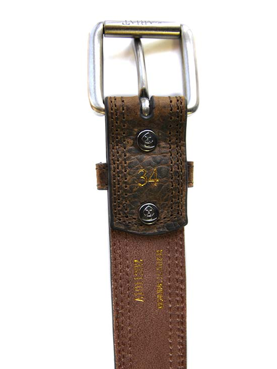 Ariat Mens Distressed Brown Center Strip Western Belt A1011202 Ariat - J.C. Western® Wear