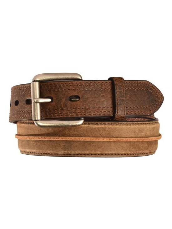 635e95cd Ariat Mens Distressed Brown Center Strip Western Belt A1011202 Ariat - J.C.  Western® Wear