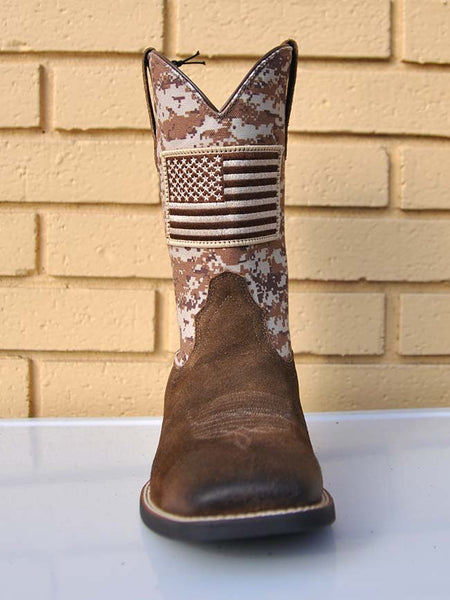 Ariat 10019959 Mens Sport Patriot Boot Antique Mocha Sand Camo