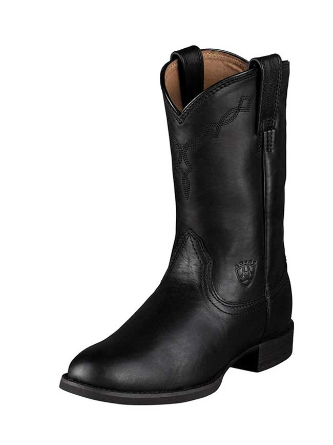 Ariat 10000794 Womens Heritage Roper Cowboy Boot Black