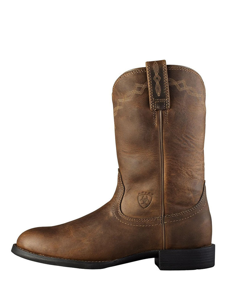 Women's Ariat Distressed Brown Heritage Roper Boot 10000797