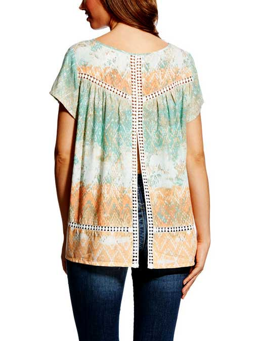 Ariat Womens Multi-Colored Print Nikki Top 10022349 Side View