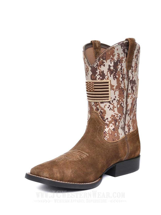 Ariat® Kids Sport Patriot Antique Mocha Sand Camo Boot 10019913 Ariat - J.C. Western® Wear