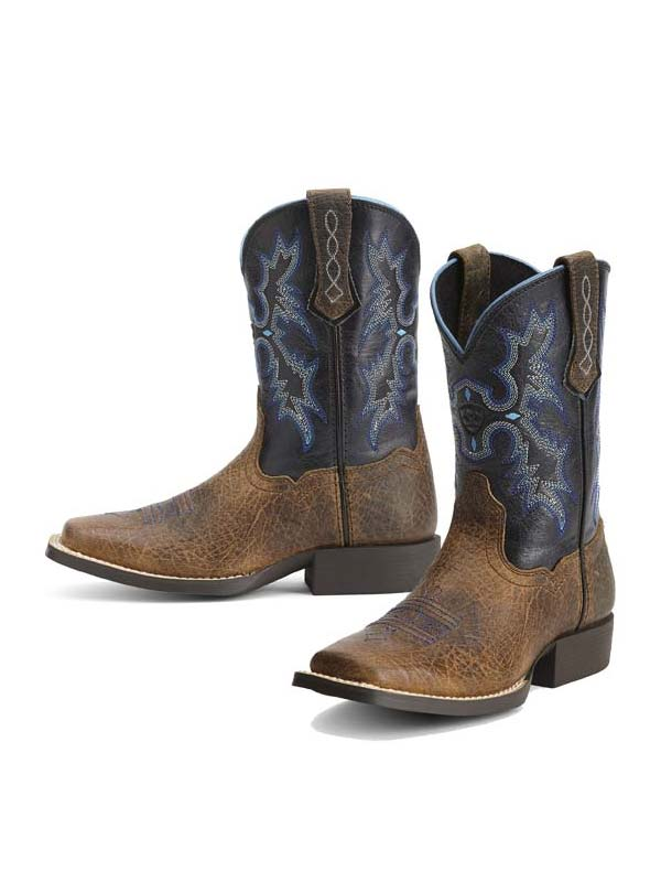 77380b374ce Kid's Ariat® Black Brown Square Toe Tombstone Boot 10012794