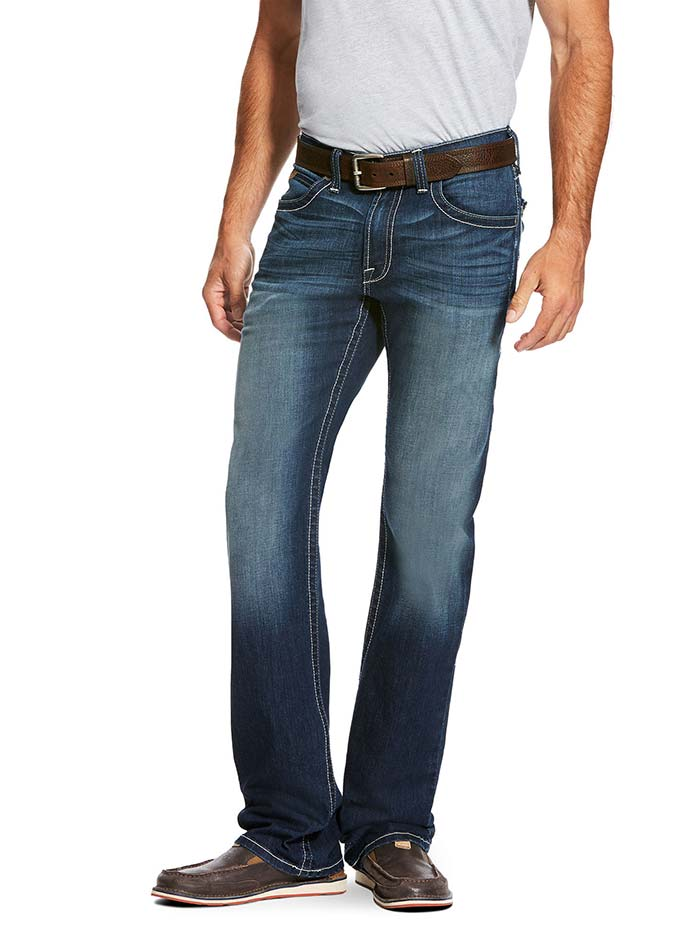 Ariat Mens M5 Slim Cooper Nightfall Straight Leg Stretch Jeans 10020786 Front View