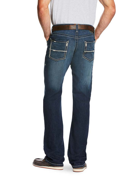 Ariat Mens M5 Slim Cooper Nightfall Straight Leg Stretch Jeans 10020786 Back View
