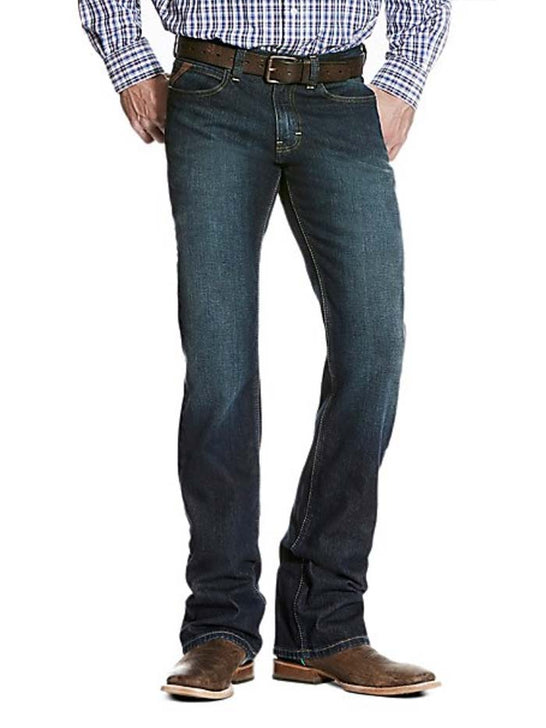 Ariat Mens M7 Rocker Fremont Slim Straight Stretch Jeans 10026041 Front View