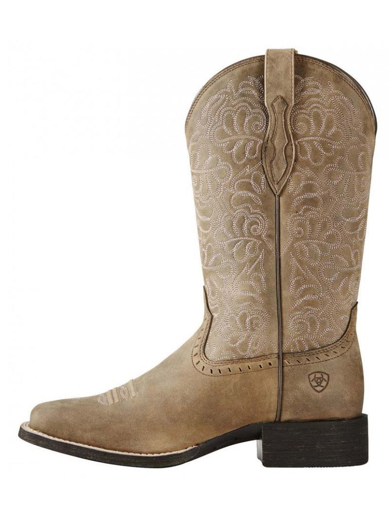 Ariat 10019906 Womens Round Up Remuda Western Boots Brown Bomber