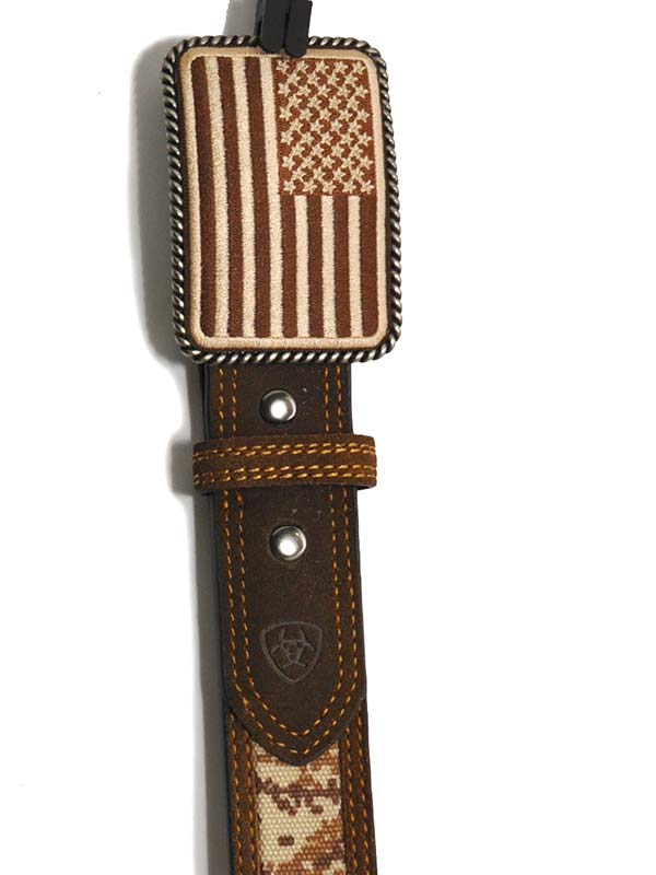 Ariat Mens Digital Camo Strap Aged Bark Overlay Belt A1030844 Ariat - J.C. Western® Wear