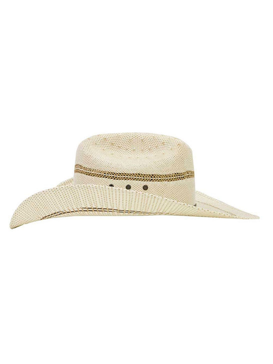 Ariat A73004 Youth Bangora Western Straw Hat Natural Side View