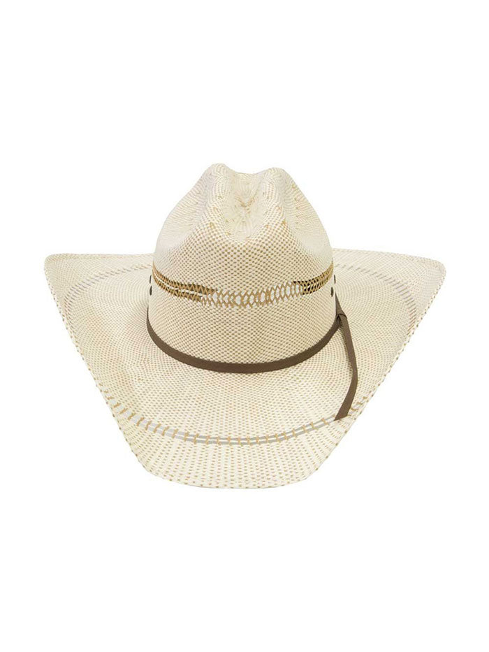 Ariat A73004 Youth Bangora Western Straw Hat Natural Side Front