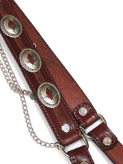 Austin Accent Leather Boot Strap with Conchos BBR-04BR