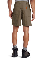 "Carhartt B144 Mens Canvas Cell Phone Work Shorts Light Brown 8.5"" back"