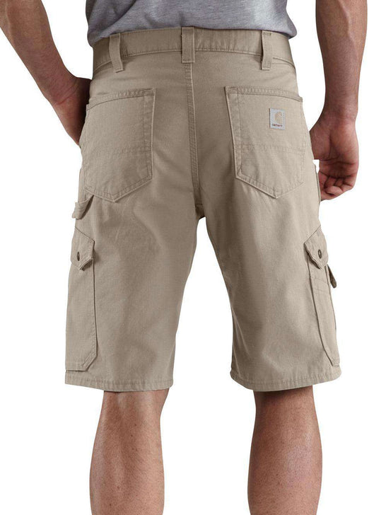 "Carhartt B357 Mens 11"" Cotton RIPSTOP Relax Fit Cargo Work Short Desert Back"
