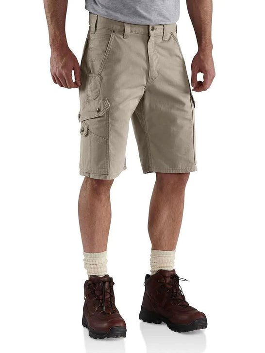 "Carhartt B357 Mens 11"" Cotton RIPSTOP Relax Fit Cargo Work Short Desert"