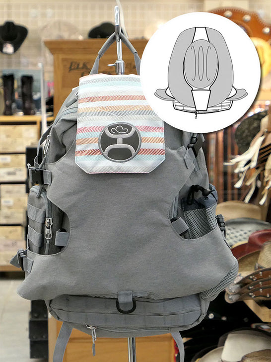 Hooey BP026GY Mule Boot Carrier Hat Strap Performance Backpack Grey Front on Display