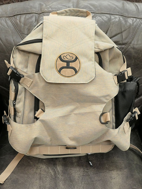 Hooey BP027KH Mule Boot and Hat Strap Performance Backpack Khaki Front