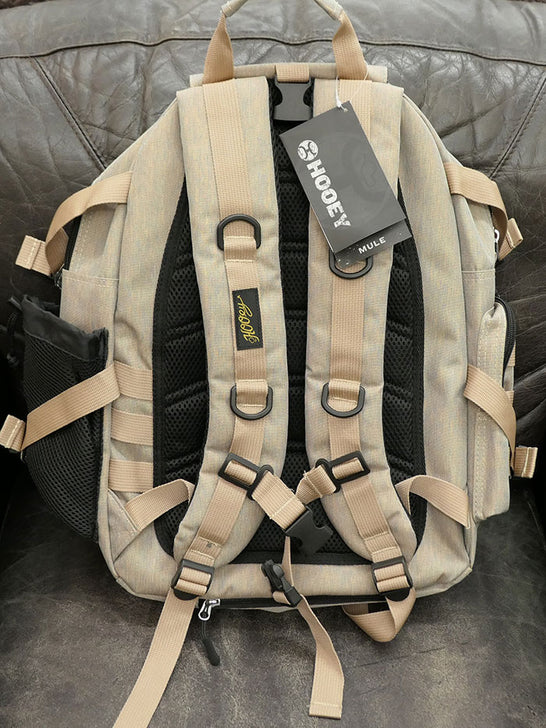 Hooey BP027KH Mule Boot and Hat Strap Performance Backpack Khaki Back